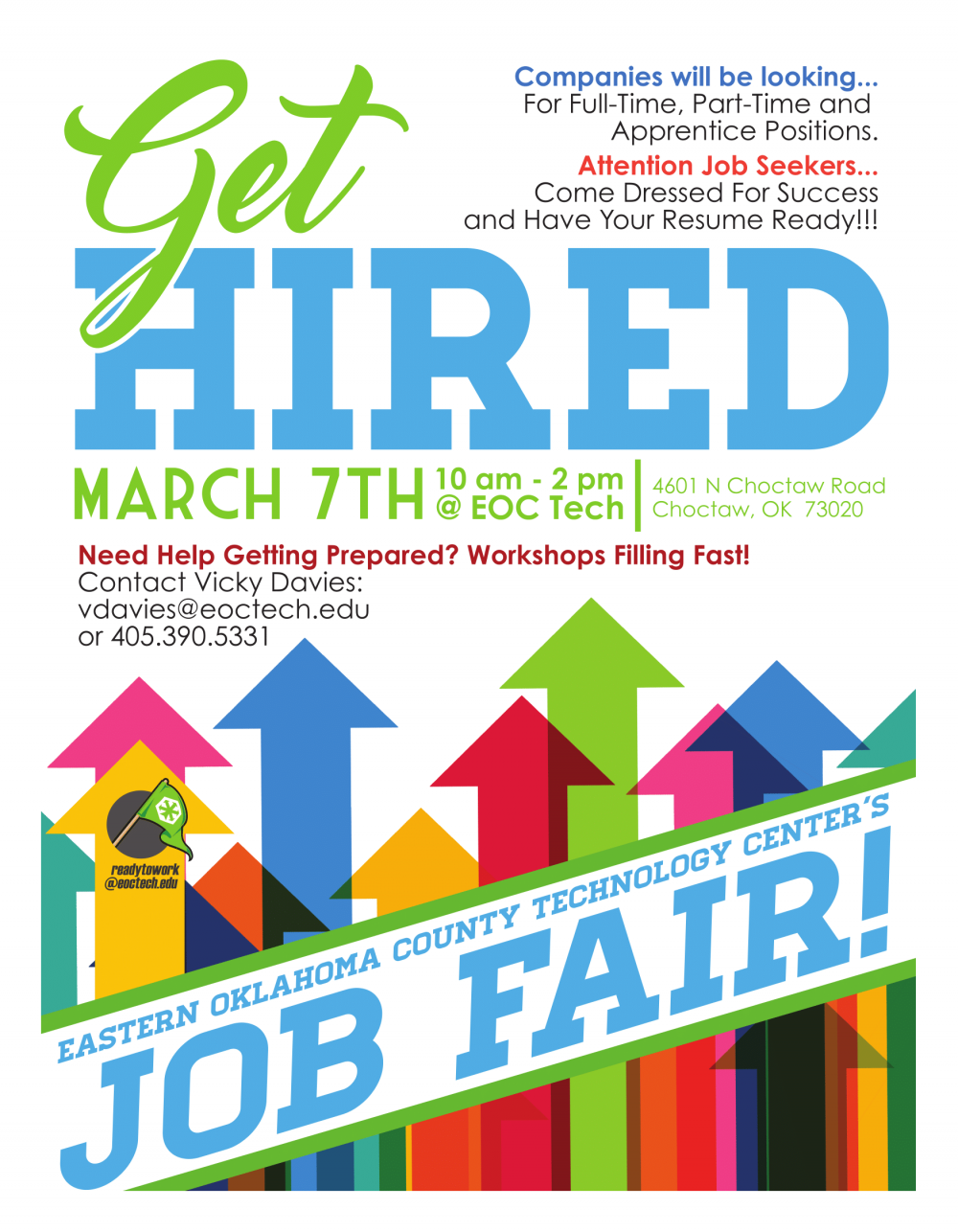 march 7 eoc job fair choctaw area chamber of commerce