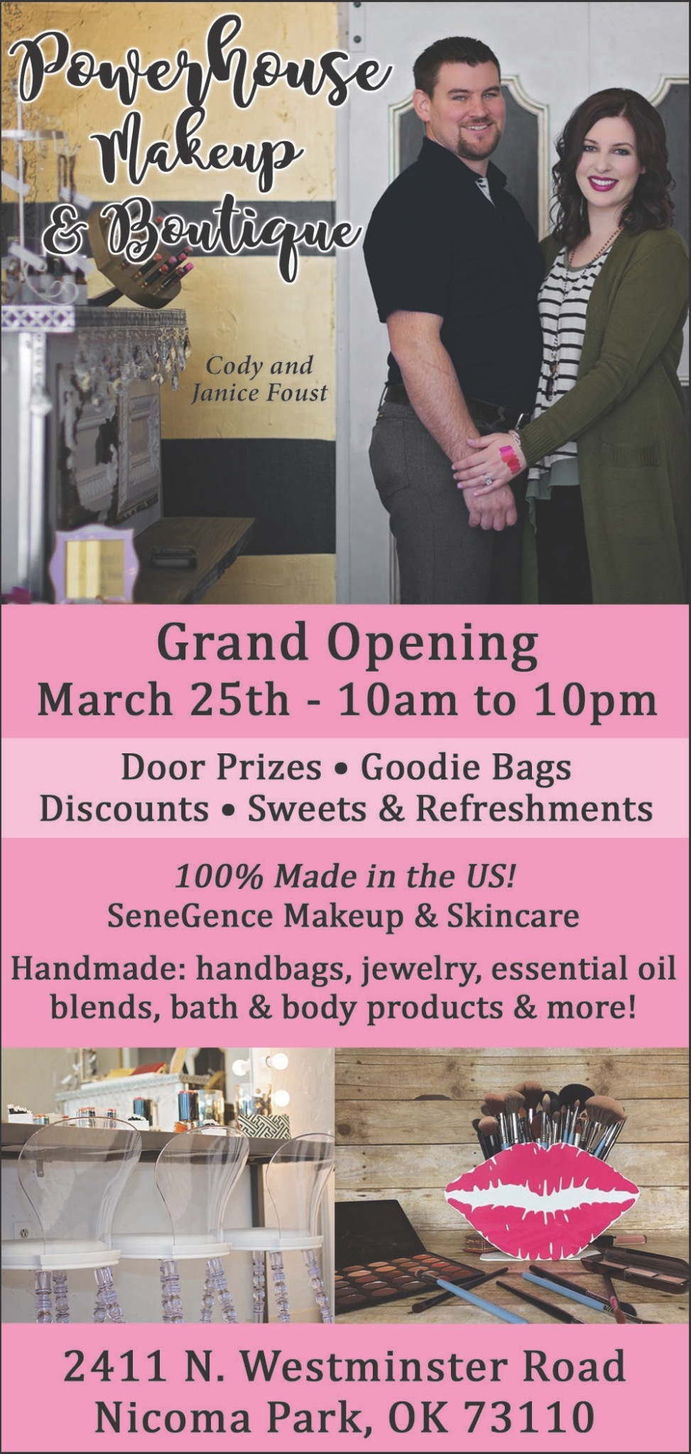 boutique grand opening flyer